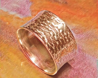 Lace Imprint Pattern Pure Silver Band