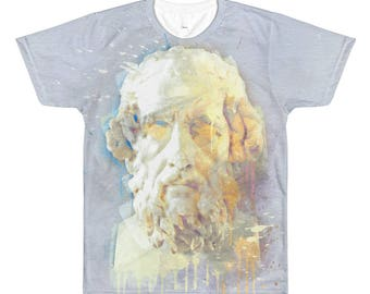 Homer | Bust of the Famous Greek Poet + Historian | All-Over Printed T-Shirt