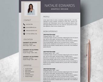 Professional Resume Template - CV Template MS Word - Modern Resume - Creative Resume Design - Resume Template Instant Download