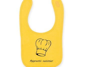 """Personalized baby bib """"apprentice foodie / Cook"""""""