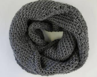 Tunisian Full Stitch Infinity Scarf - PDF Tunisian Crochet Pattern Download