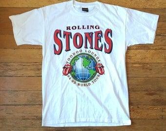 1994-1995 Rolling Stones Voodoo Lounge World Tour Concert T Shirt