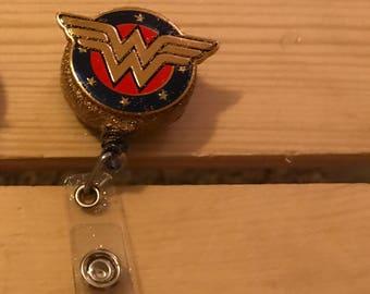 Sparkle Wonder Woman badge holder