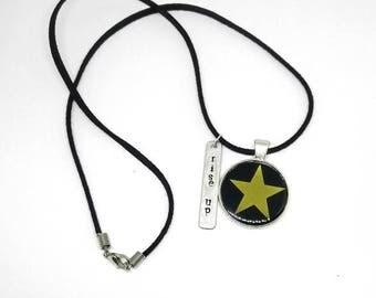 Hamilton Inspired Necklace- Hamilton the Musical Pendant Necklace- Rise Up Necklace- Hamilton Necklace- Hamilton Jewelry