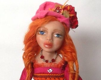 Trinket ooak art doll