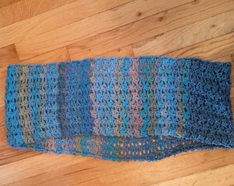 Crocheted Infinity Scarf, Multicolor