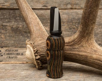 Gifts for Hunters, Cow Elk Call, Custom Call, Gifts for Men, Laminate, Hand Turned, Outdoorsmen Gift