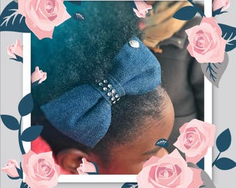 Chic Blue Denim Hair Accessory