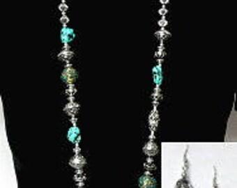 Long Turquoise Jewelry Set