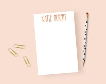 Girls Notepad Personalized Stationary Notepad, Personalized Notepad Girls, Cute Notepad, Personalized Notepad as a Gift, 5.5 x 8.5