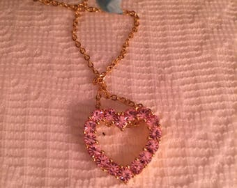 Joan Rivers Pink Crystal Necklace