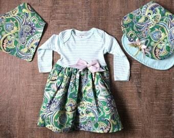 Baby Girl Long Sleeved Dress Set