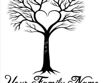 Family Tree Wall Decal, Personalized Family Tree Decal, Family Decal, Home Decor, Wall Decal, Wedding Gift, Newlywed, Family Tree, Family
