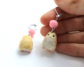 Leverback earrings // Hamsters