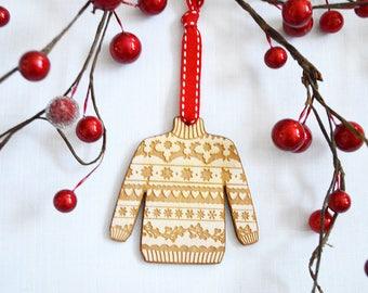 Christmas Jumper Tree Decoration, Fair Isle, Christmas Decor, Christmas Quotes, Home Decor
