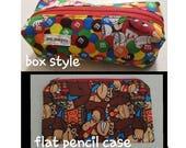Geeky Pencil Case, Planner Pouch, make up case, trinket carrier, bag, comic - marvel / harry potter / star wars / dr who / disney / muppets