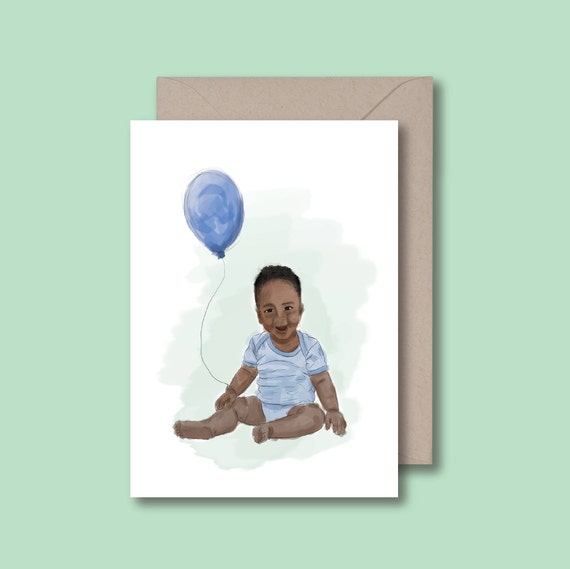 Black Baby Card