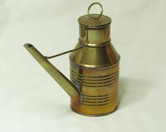 Rustic brass watering can - vintage