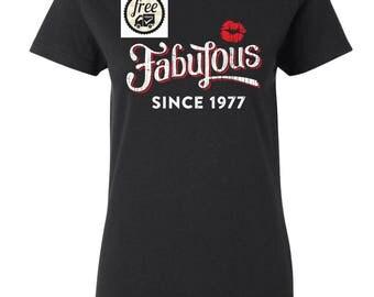 1977 birthday, 1977 shirt, 1977 T-Shirt, 1977, 1977 birthday shirt, Any Year Available ( Free Shipping )