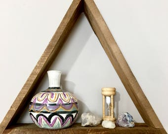 Wood Triangle Shelf+Triangle Wall Shelf+Reclaimed Wood+Reclaimed Wood Shelf+Geometric Wood Shelves+Modern Geometric Shelf+Triangle Shelves
