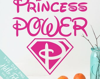 Princess Svg, Superhero Svg, Princess Power Svg, Hero Svg, Dxf, Jpg, Svg files for Cricut, Svg files for Silhouette, Vector Art, Clip Art