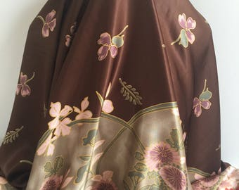 Espresso Brown Border Print - Sold by the Yard