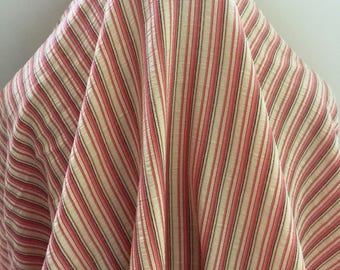 Double Faced Strawberry Pink Stripe - Sold by the Yard
