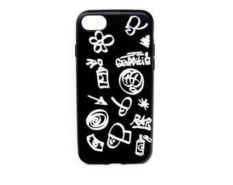 Hip Hop Symbols Personalized iPhone case, iPhone 8 case, iPhone 8 Plus case, RAP iPhone case, iPhone case, iPhone 7 case, iPhone 7 Plus case