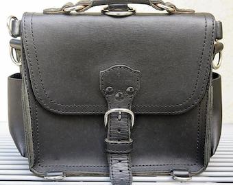 Genuine saddleback leather messenger bag