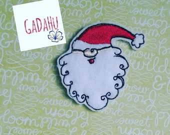 Cute Santa Claus Christmas feltie. Embroidery Design 4x4 hoop Instant Download. Felties