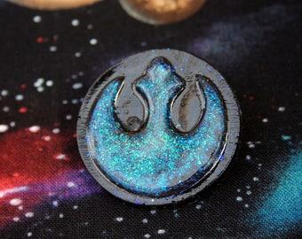 Opal Effect Star Wars Rebel Logo Pin