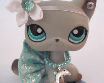 Littlest Pet Shop clothes LPS Accessories Custom Skirt Bow *Cat Not Included