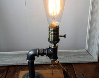 Steampunk industrial lamp