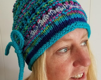Slouch hat, gathered with I-cord