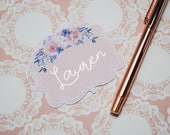 Blush Lace Personalised Foil Die Cut
