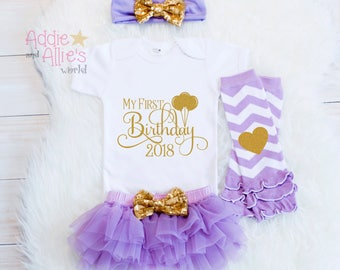 First Birthday Outfit Girl, 1st Birthday Girl Outfit, Its My First Birthday Outfit, Lavender and Gold Birthday Outfit, Cake Smash Outfit B9B