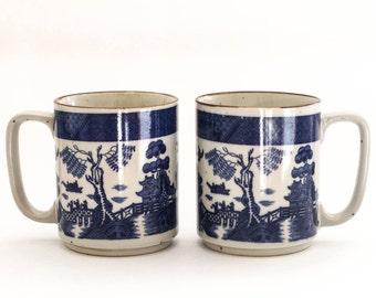 vintage japanese ceramic mugs - set of 2