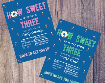 How Sweet It Is Birthday Party Invitation