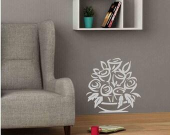 Flowers - Wall sticker, glass sticker, wall decal, glass decal, home sticker, window sticker, door sticker, home decal, wall decor, wall art