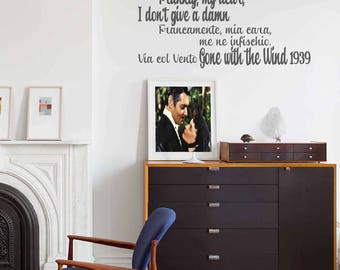 Gone with the Wind - Wall stickers, Gone with the Wind, wall decor, wall art, Gone with the Wind quotes, Gone with the Wind stickers