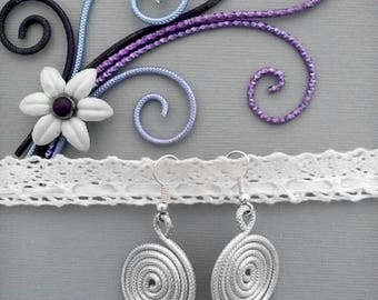Silver Aluminum Wire Earrings