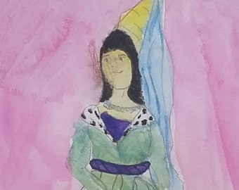 Princess Isabel watercolor painting