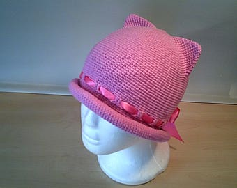 Crochet sun hat for girl