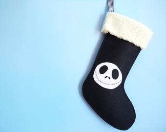 Jack Christmas Stocking Ornament, Holiday Stocking, Christmas Stocking Gift, Disney Jack Christmas Stocking