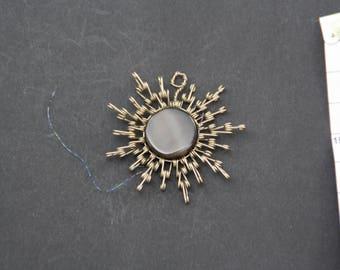 Sun necklace Alpaca - agate (Agata)
