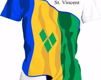 St. Vincent Ladies Flag Tee
