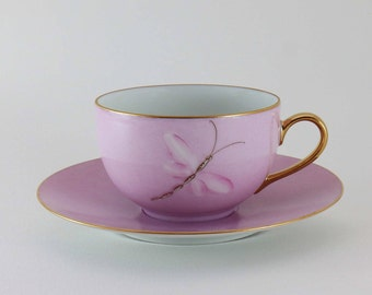 Limoges porcelain Teacup pink