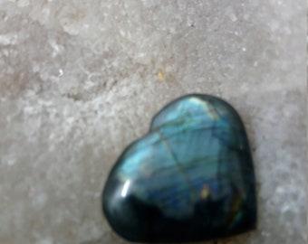 Labradorite bleugris and Rainbow - 19, 83 Gr-heart
