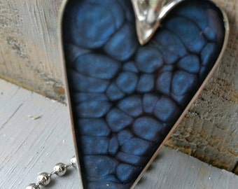 Silver Plated Primitive Midnight Blue Bezel