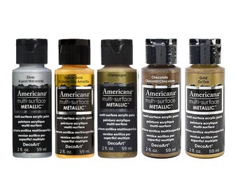 Americana Multi Surface Metallic Acrylic Paints - 59ml - Full Metallics Range